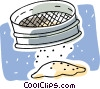 Vector Clipart graphic  of a sifted flour