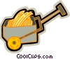 wagon with grains Vector Clipart illustration
