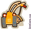 Vector Clipart graphic  of a farm equipment