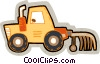 farm tractor Vector Clip Art graphic