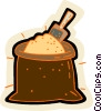 grain sack Vector Clipart picture