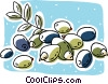 olives on the vine Vector Clip Art picture