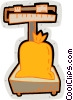 Vector Clipart illustration  of a sack or bushel of grain