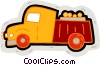 Vector Clip Art graphic  of a truck delivering crop to