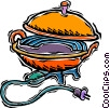 electric wok, kitchen Vector Clipart illustration