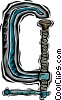 Vector Clip Art image  of a C clamp