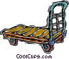 Vector Clipart graphic  of a flat dolly
