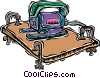 jig saw, cutting wood Vector Clipart picture