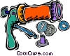 button maker Vector Clipart illustration