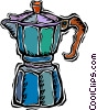 Vector Clip Art image  of a coffee percolator