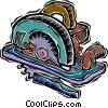 skill saw Vector Clipart graphic