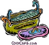 Vector Clip Art graphic  of a fish pot