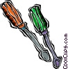 Vector Clipart image  of a screw drivers