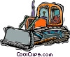 Vector Clip Art graphic  of a bulldozer