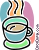 cup of coffee, drinks, beverages Vector Clipart illustration