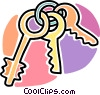 keys on a key ring Vector Clip Art image