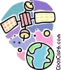 satellite communications Vector Clip Art picture