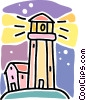 Vector Clip Art graphic  of a lighthouse