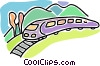 train, rail transportation, Vector Clip Art picture