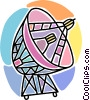 satellite dish Vector Clip Art picture