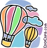 Vector Clip Art image  of a hot air balloons