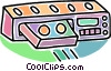 video tape player, home entertainment Vector Clip Art graphic