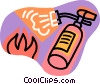 Vector Clip Art graphic  of a fire extinguisher