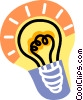 electric light bulb Vector Clipart picture