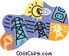 hydro electric services Vector Clipart illustration