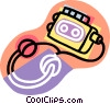 personal audio tape player with headphones Vector Clipart picture