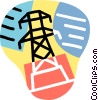 hydro tower, electricity Vector Clip Art image