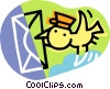 Vector Clipart picture  of a e-mail bird