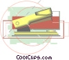 Vector Clip Art image  of a stapler in a modern drafting