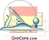Vector Clipart picture  of a hand tools