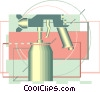 Vector Clip Art graphic  of a paint sprayer