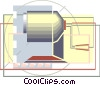 pencil sharpener in a modern drafting design Vector Clipart graphic