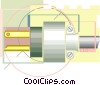 Vector Clip Art picture  of a electric plug hydro electric