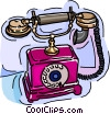 telephone, rotary phone Vector Clipart illustration