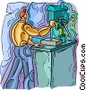 tool and die, factory worker Vector Clip Art picture