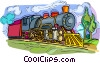 Train engine, locomotive Vector Clipart picture