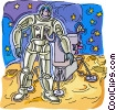 astronaut, space travel Vector Clipart picture