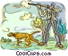 Vector Clipart illustration  of a hunting