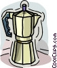Vector Clip Art image  of a coffee pot