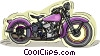 Vintage motorcycle Vector Clipart graphic