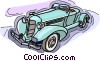 Vector Clipart illustration  of a vintage automobile