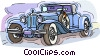 vintage automobile, car Vector Clip Art image