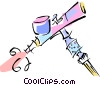 Vector Clipart picture  of an airbrush
