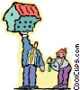 some people can carry a heavy load Vector Clip Art picture