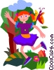 Vector Clip Art picture  of a child