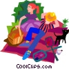 Vector Clipart picture  of a picnic